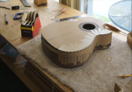 Installing Binding with Side Purfling on Guitar No. 56