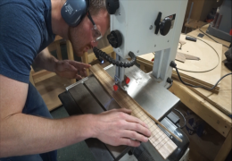 Milling and Slotting a Zebrawood Fretboard for Guitar No. 57