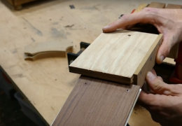 A Simple Jig for Cutting the Headplate Square to the Nut Slot